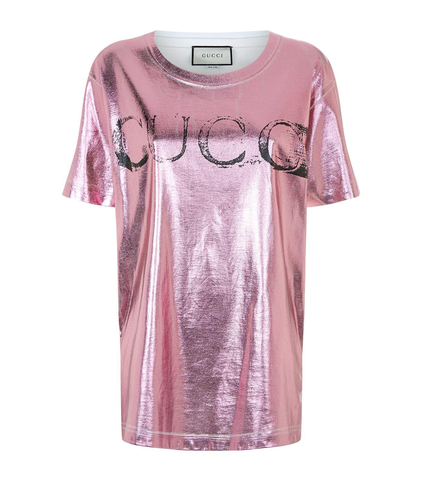10d2d290b Gucci Blind For Love T-shirt, Cream, M in Pink - Lyst