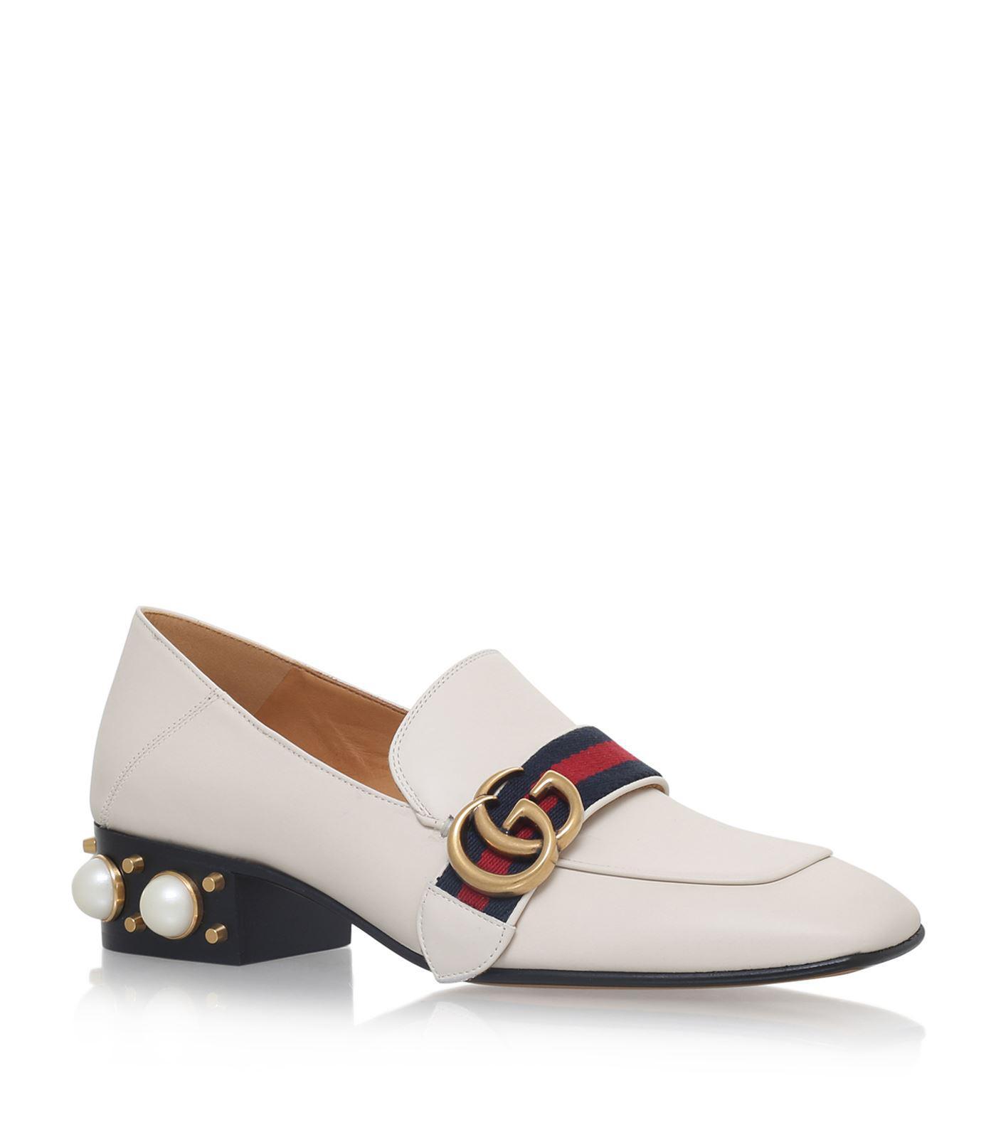 8ec6a3a63104 Gucci. Women s White Embellished Peyton Court Shoes 75