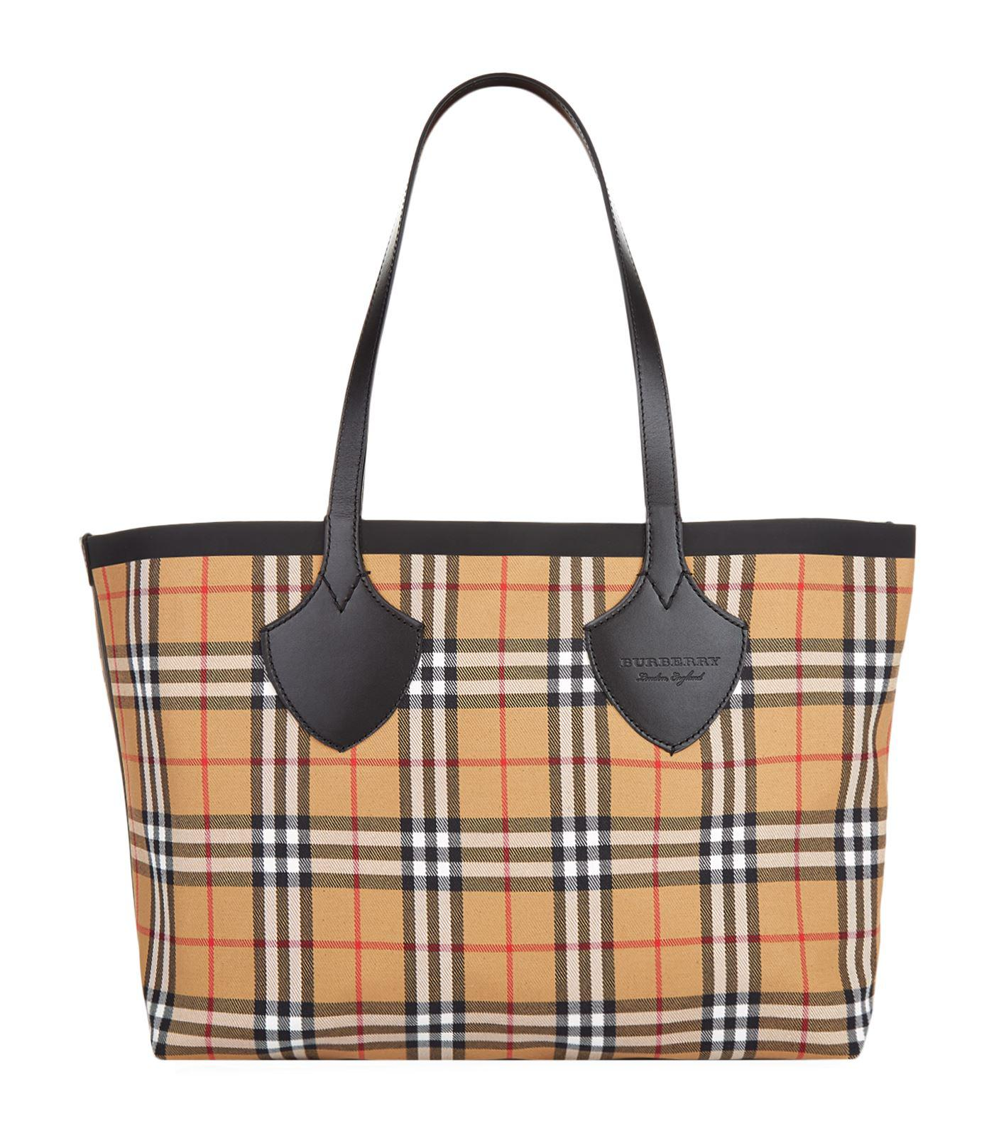 Burberry Medium Giant Plastic Vintage Check Tote in Yellow - Lyst 30c97ce3cf