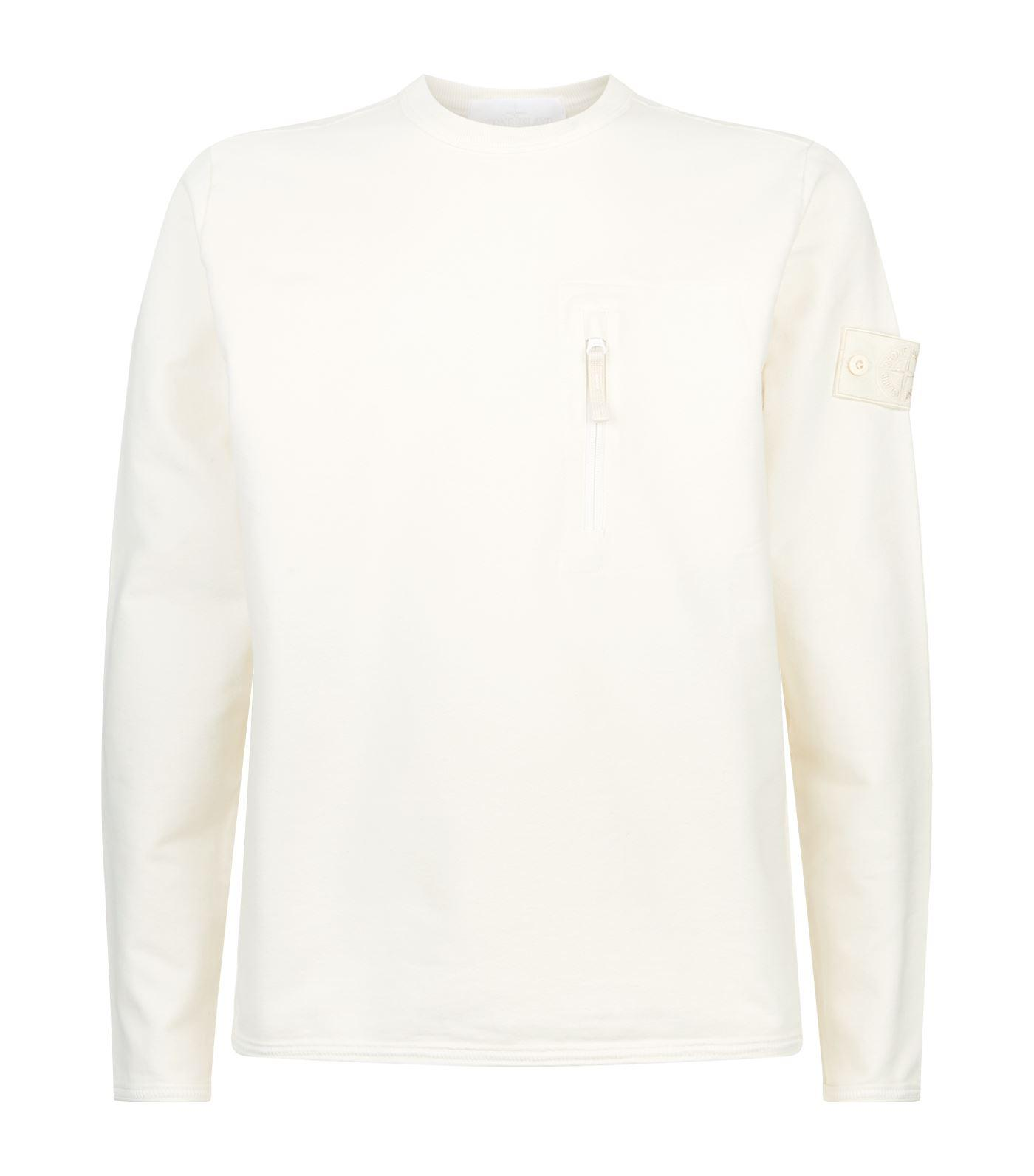 Stone Island Ghost Crew Neck Sweater In White For Men Lyst