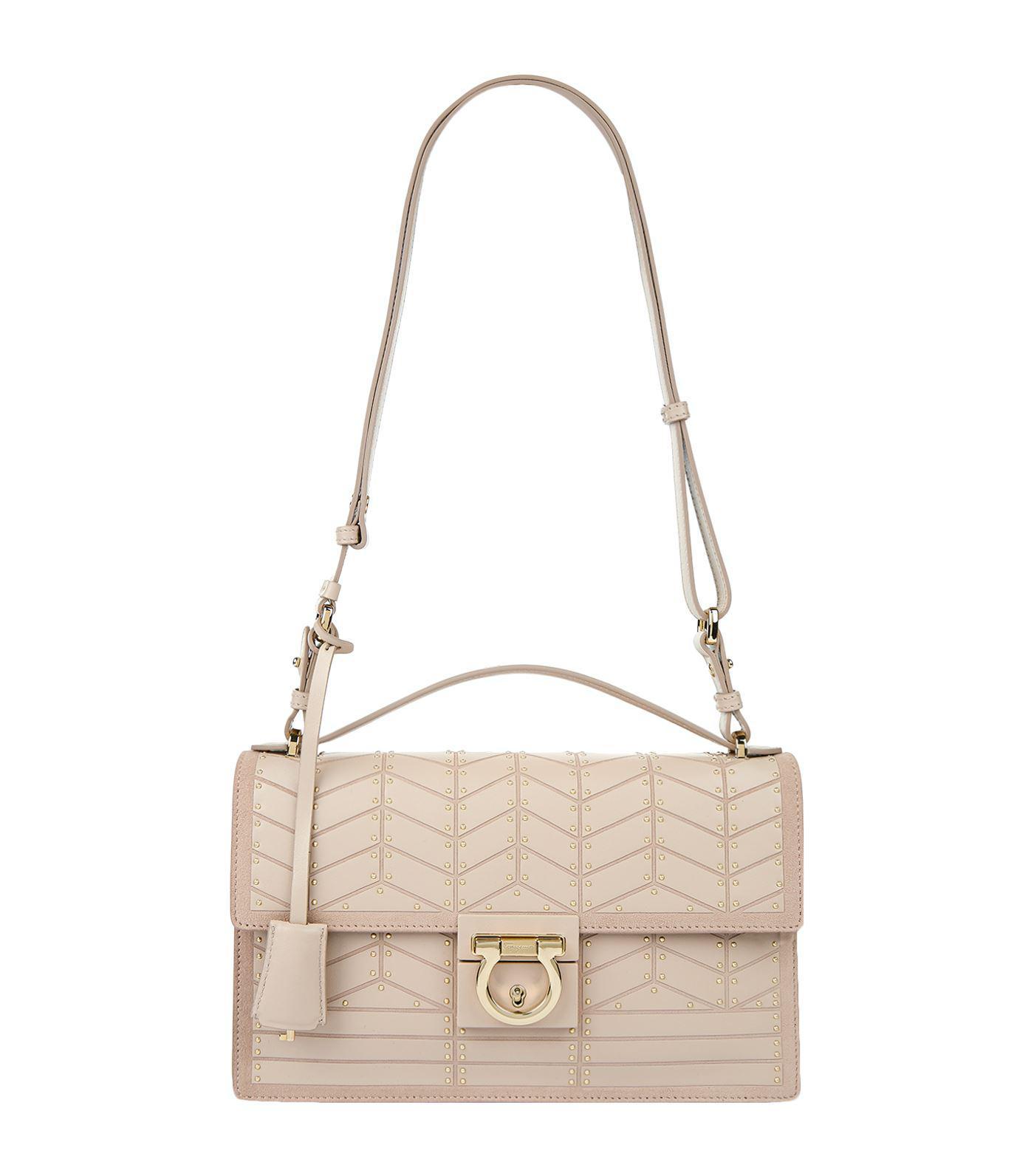 Ferragamo Medium Aileen Shoulder Bag in White - Lyst 1894416e1da14