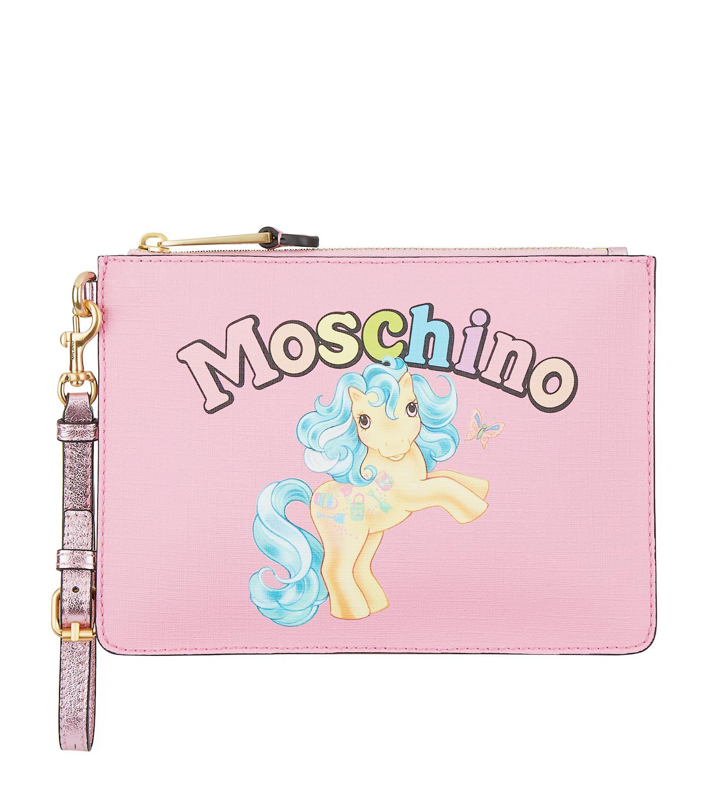60a7dae1f8f moschino-Pink-My-Little-Pony-Printed-Clutch-Bag.jpeg