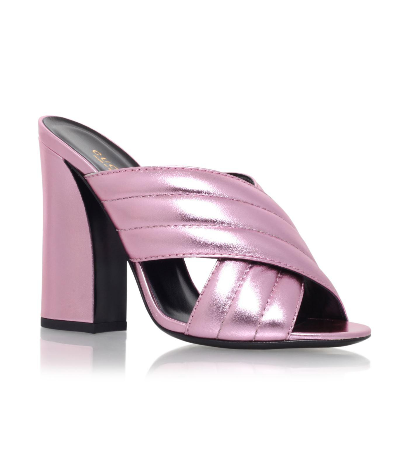 a5ab7767030 Lyst - Gucci Sylvia Mules in Pink - Save 22%