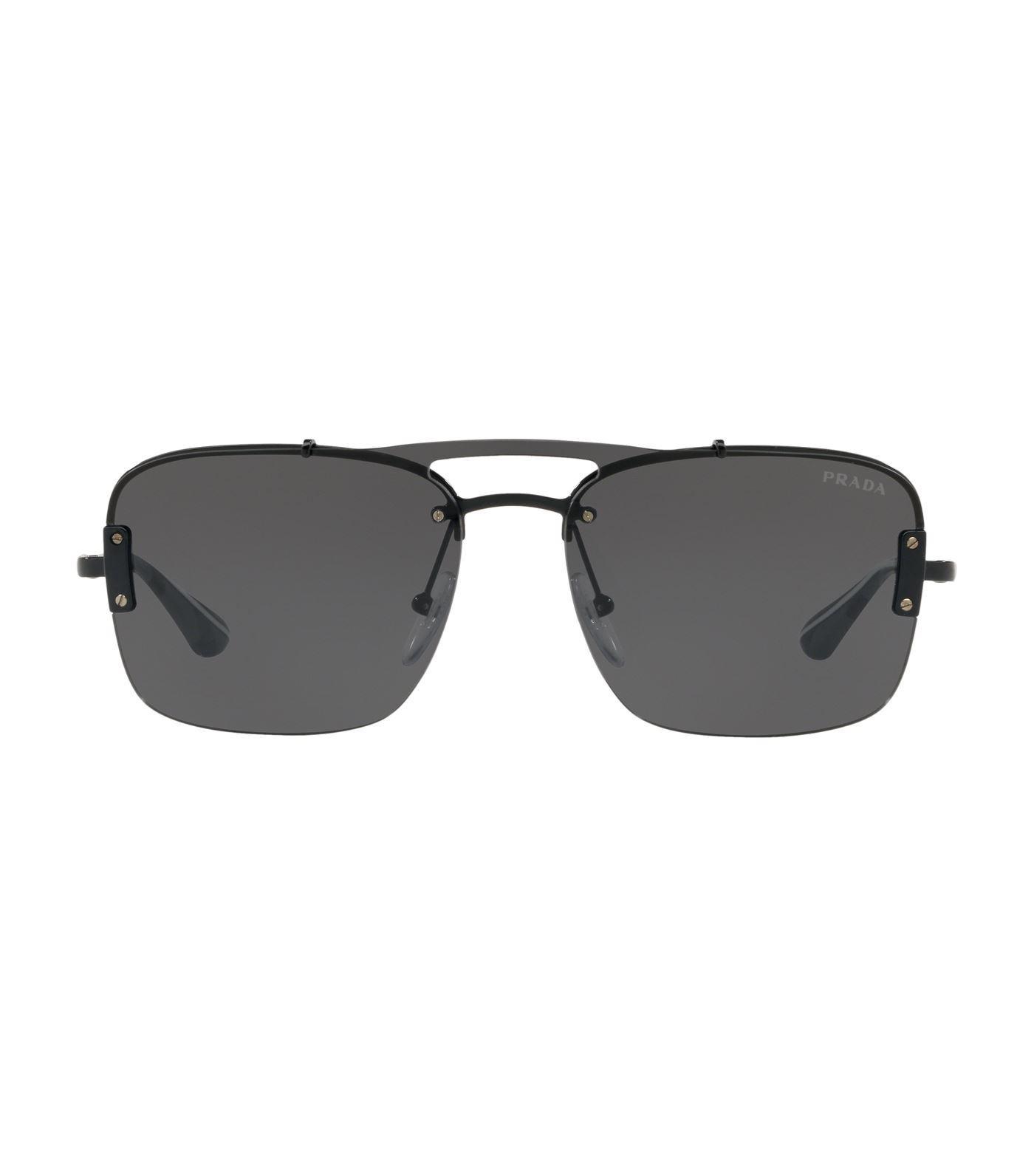 918bd296c5 Prada - Black Pillow Sunglasses for Men - Lyst. View fullscreen