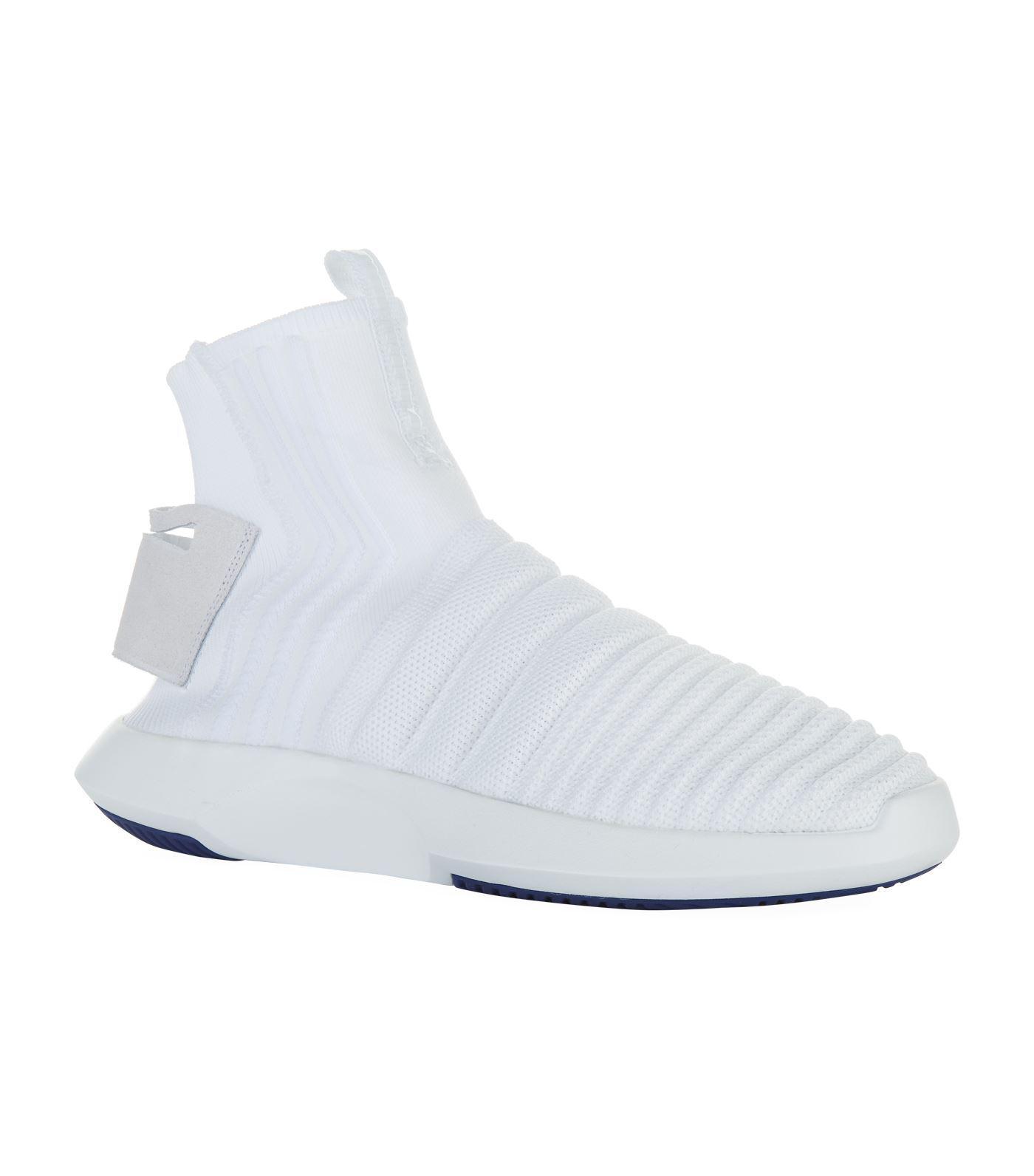 lyst adidas originali pazzo 1 avanzata primeknit sock scarpe bianche