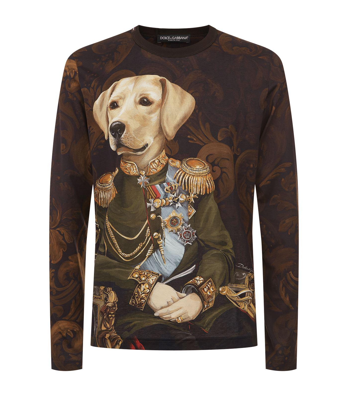 d7237965 Dolce & Gabbana Long-sleeved Dog T-shirt for Men - Lyst