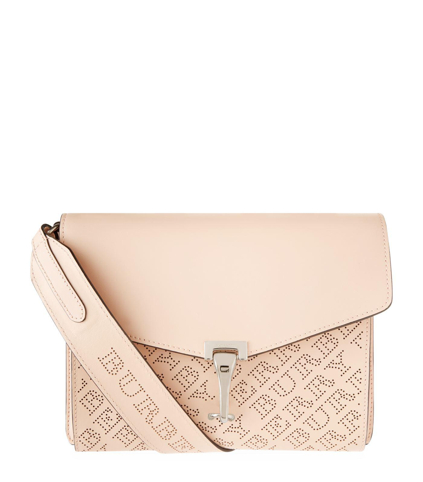 009db7eed945 Lyst - Burberry Small Perforated Logo Cross Body Bag in Pink