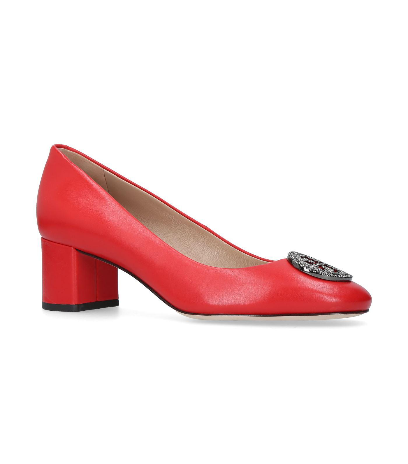 b1b6f78b68b Lyst - Tory Burch Liana Pump 45 in Red