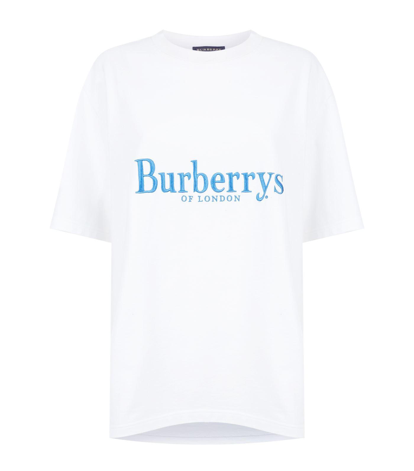01dca45e466 Burberry Embroidered Vintage Logo T-shirt in White for Men - Lyst