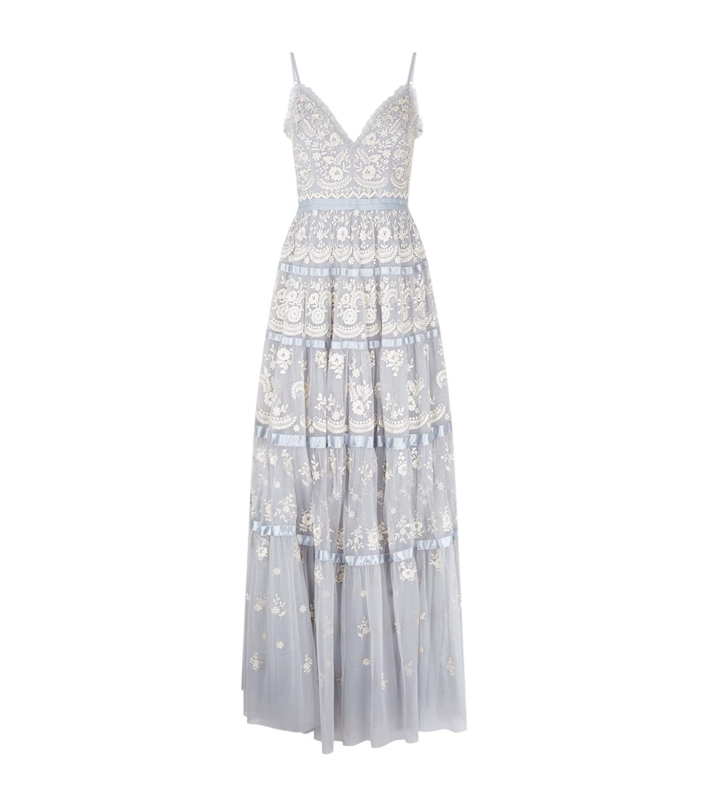 Lyst - Needle & Thread Embroidered Roses Bridal Gown in Blue