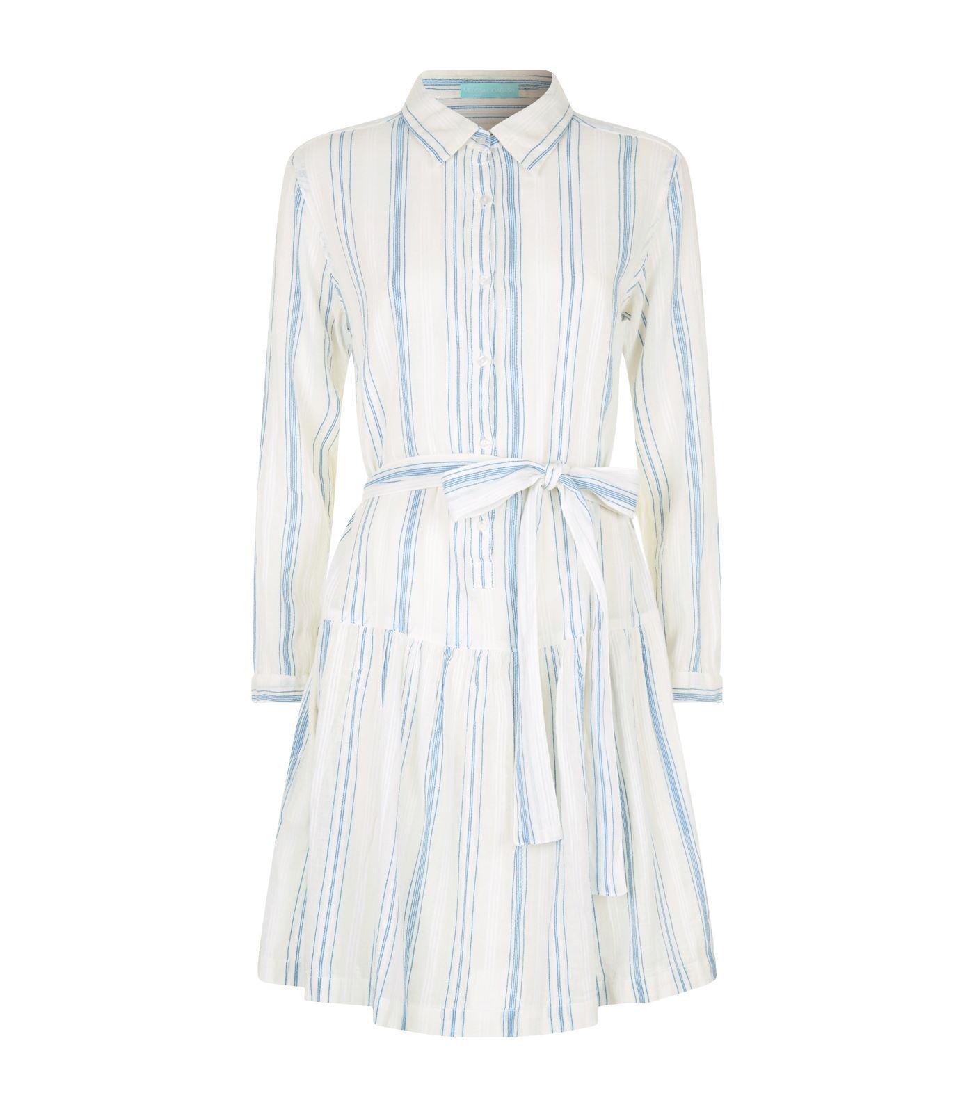 24f3f6b955bf Melissa Odabash Amelia Belted Shirt Dress in Blue - Lyst