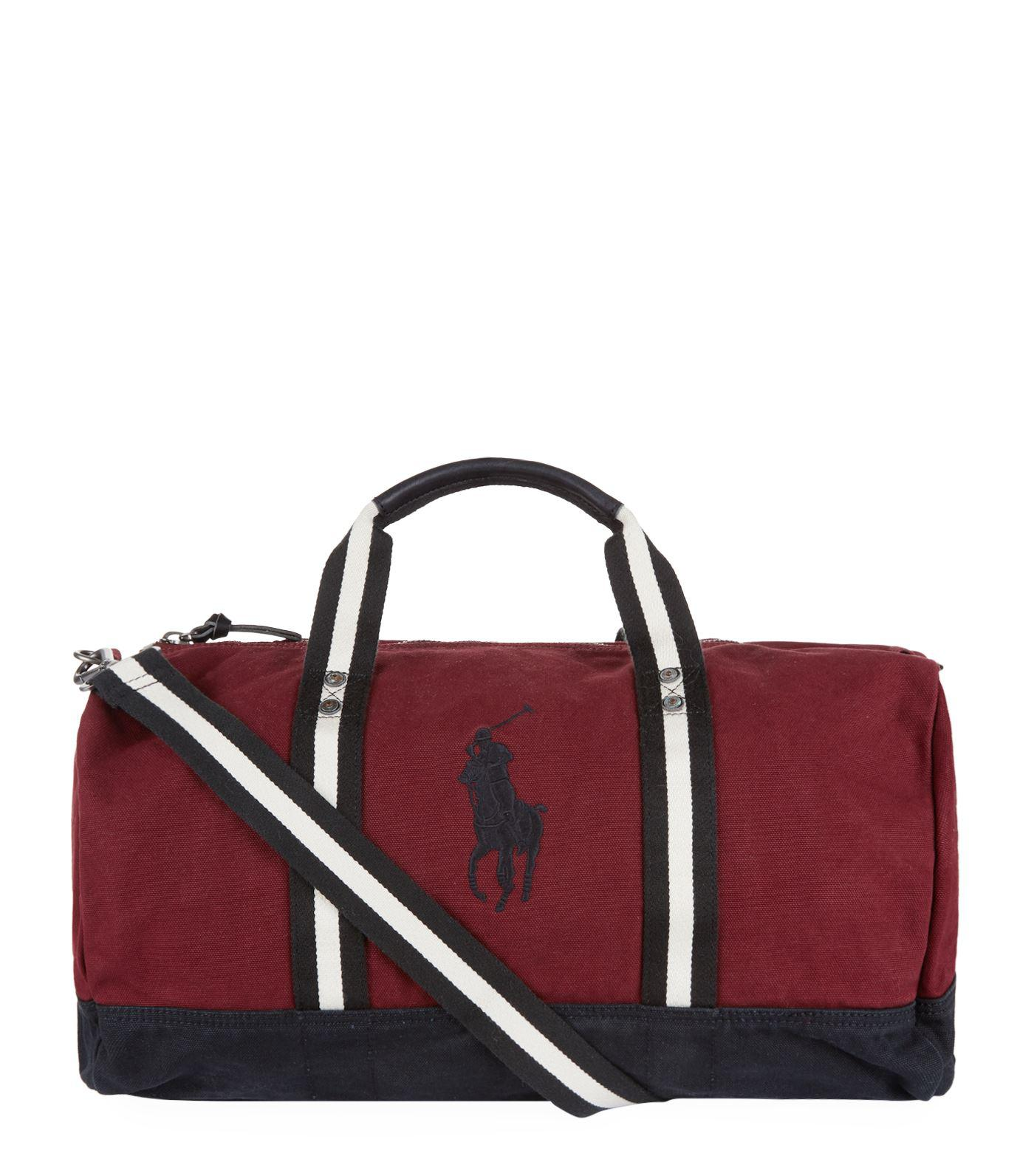... france polo ralph lauren. mens red canvas big pony duffle bag a9137  4f8d0 80ab552c55