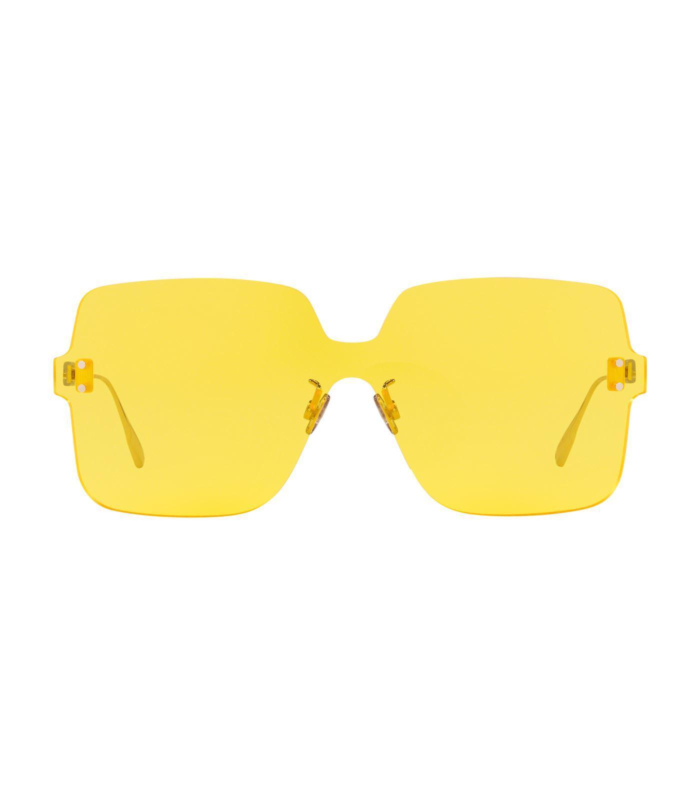 834fa2b419d Lyst - Dior Colorquake1 Sunglasses in Yellow - Save 26%