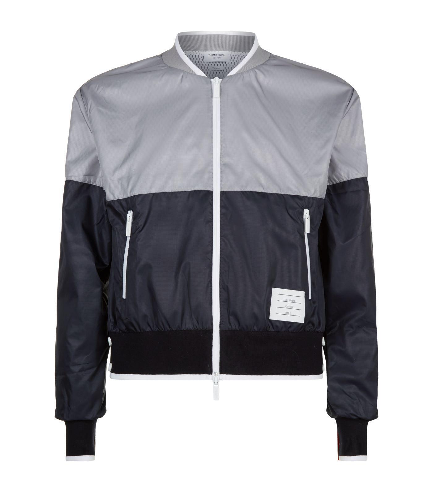 dfe5b781581 Thom Browne - Multicolor Colour Block Bomber Jacket for Men - Lyst. View  fullscreen