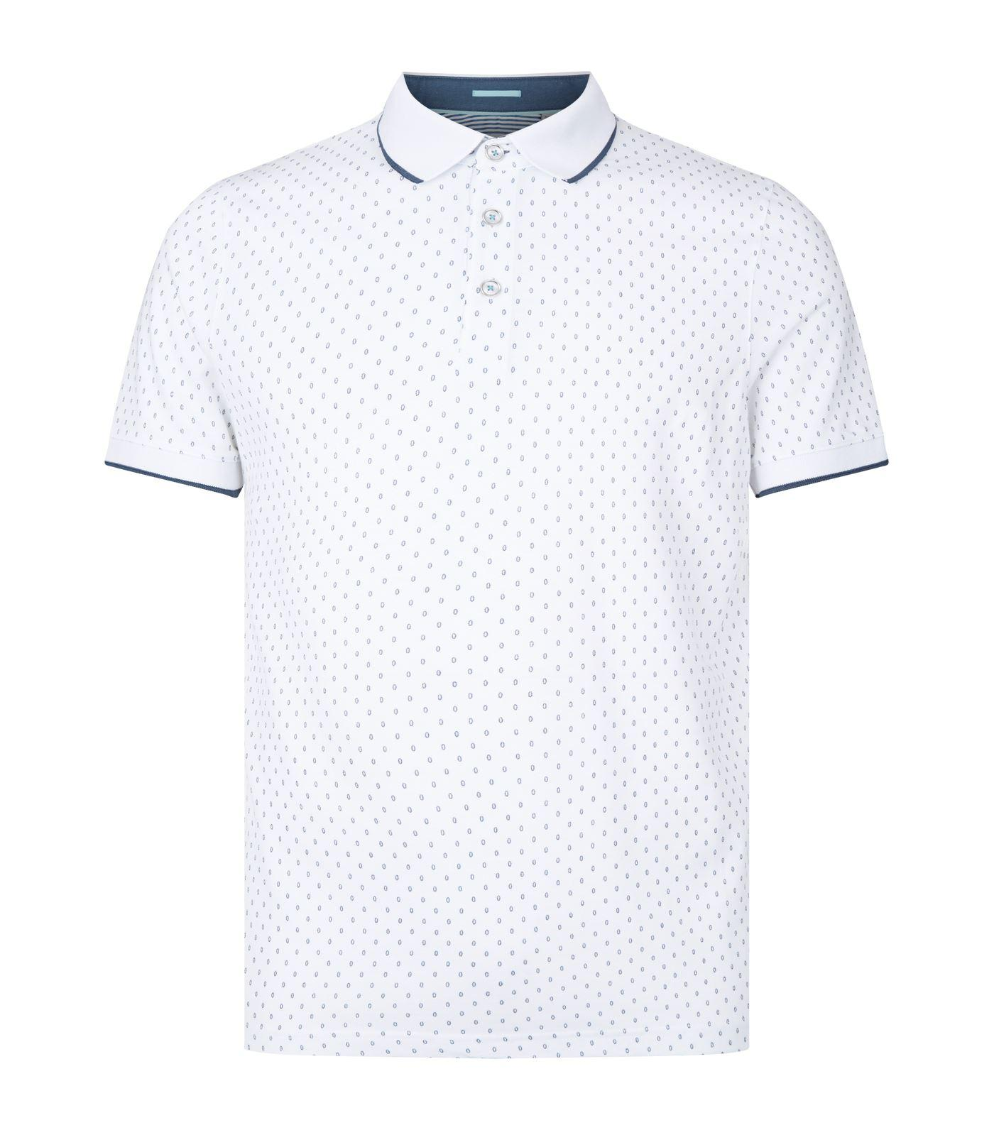 ce30d1ffe Ted Baker Toff Print Polo Shirt in White for Men - Lyst