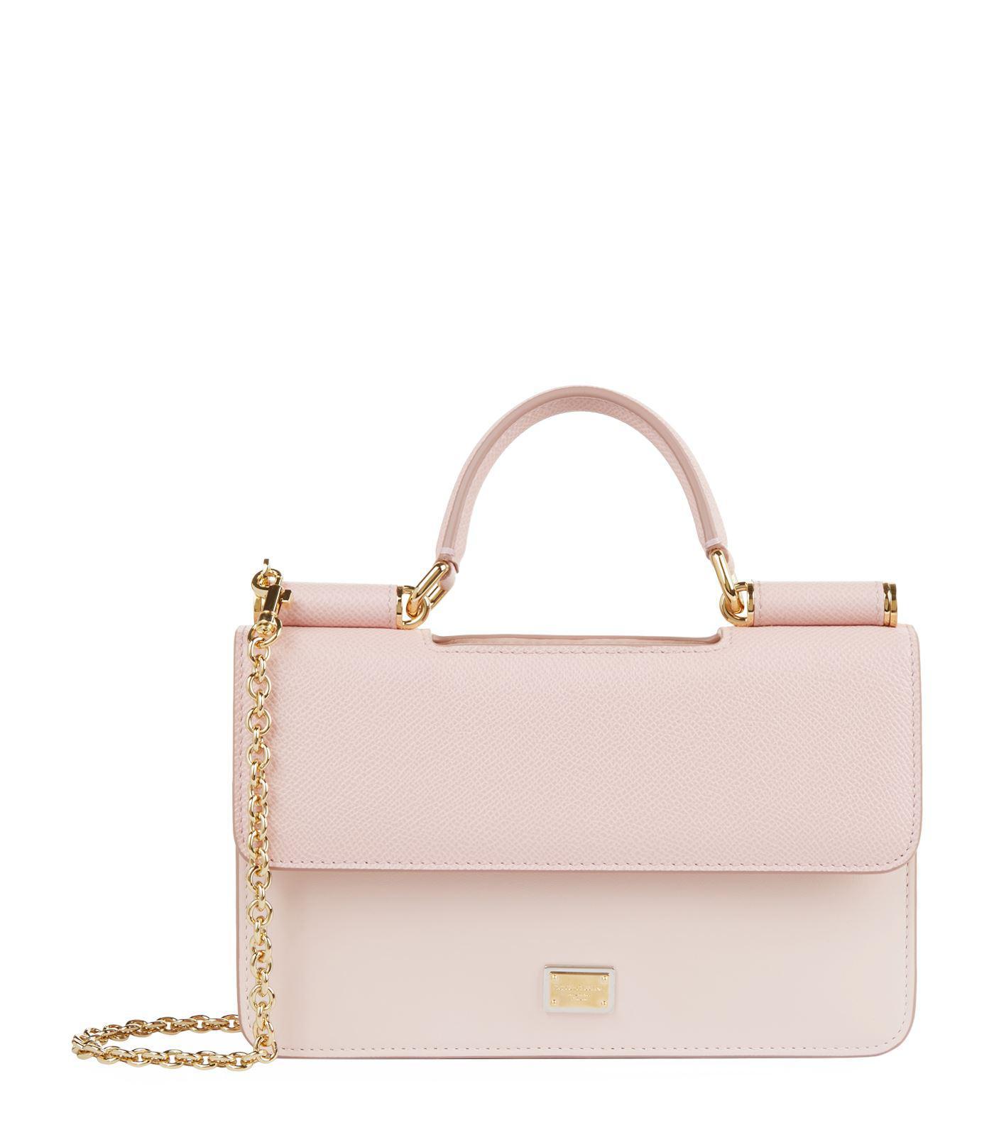 61f0c51094 Lyst - Dolce   Gabbana Von Cross Body Bag in Pink