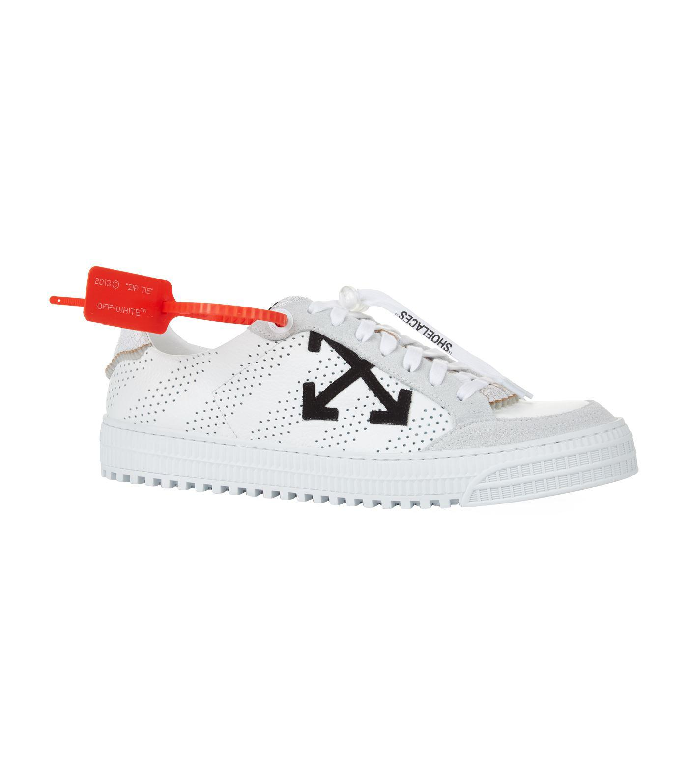 cd111ccac Off-White C O Virgil Abloh Leather 3.0 Polo Sneakers in White for ...