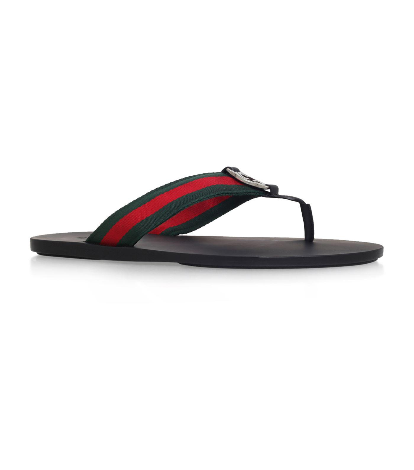 69d4be14e21 Lyst - Gucci GG Web Thong Sandals in Black for Men