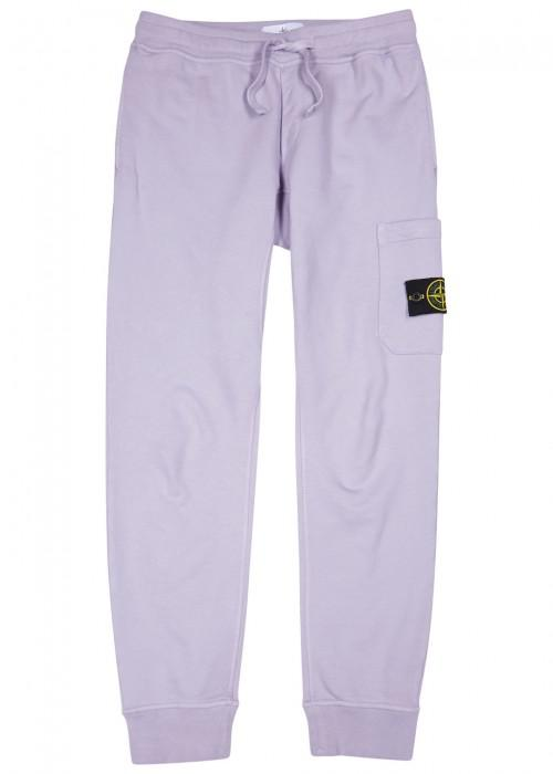 Stone Island Lilac Cotton Jogging Trousers In Purple For