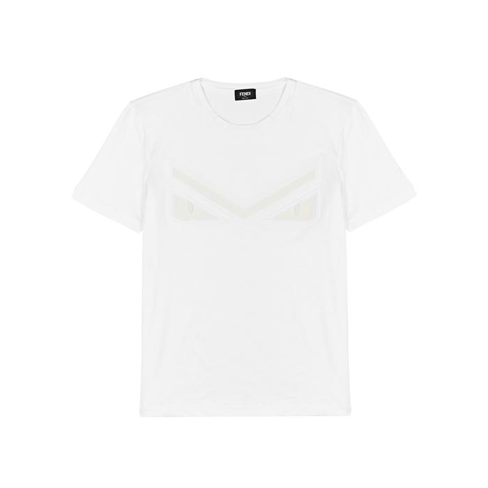 b3ea0c3c Fendi Monster White Cotton T-shirt in White for Men - Lyst
