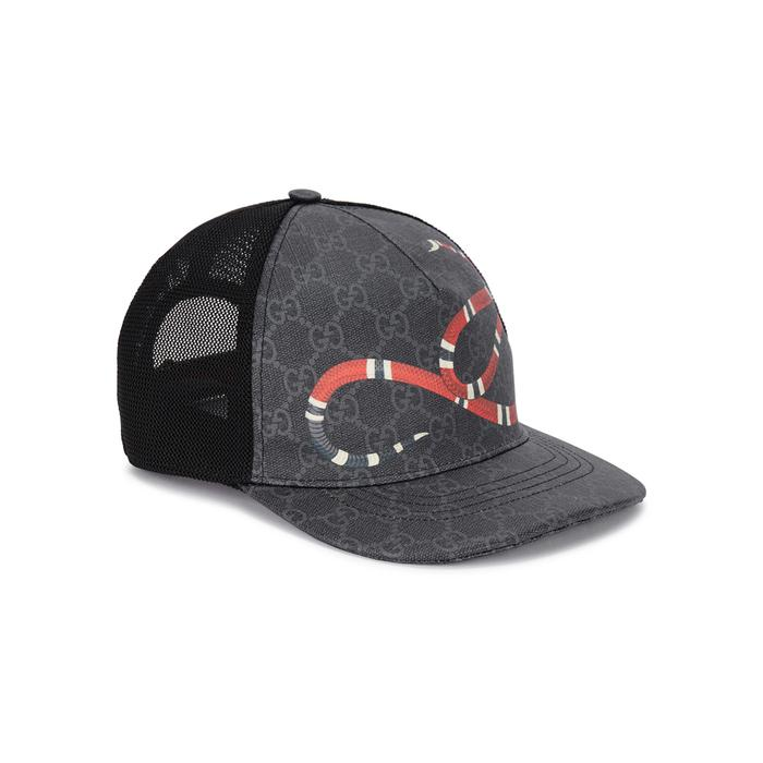 31f98e4f2bb Gucci Gg Supreme Monogrammed Cap in Black for Men - Lyst