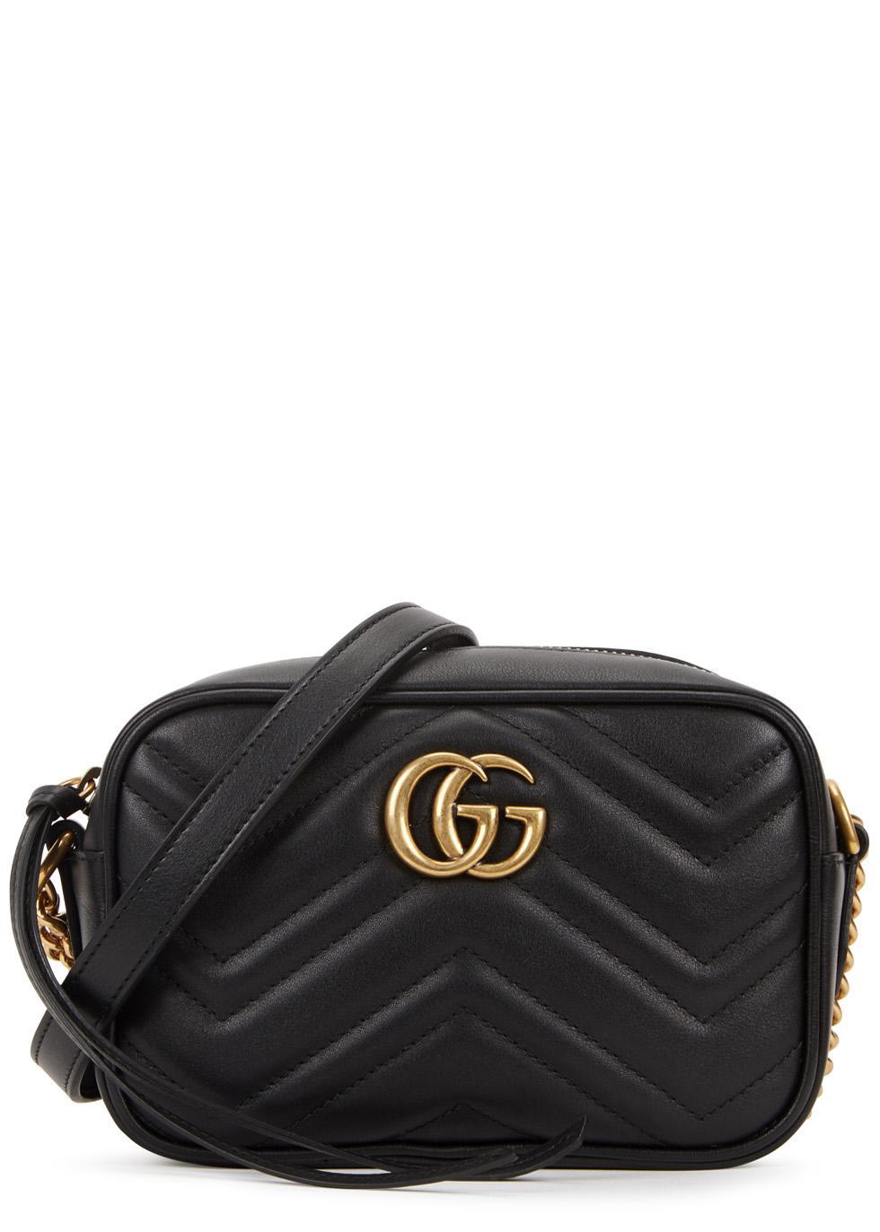 23ef1bfaada Gucci Marmont Mini Chain Bag Uk. Gucci Gg Marmont Matelassã© Mini Bag in  Black