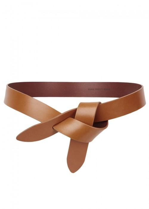 79fa231630e8 Étoile Isabel Marant Lecce Brown Leather Belt in Brown - Lyst