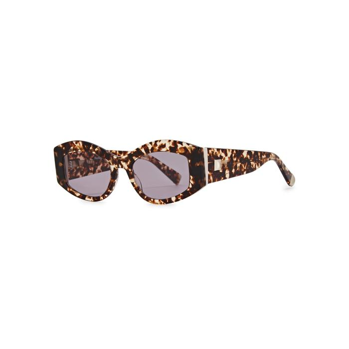 eec045b9750d Max Mara Iris Tortoiseshell Cat-eye Sunglasses in Brown - Lyst