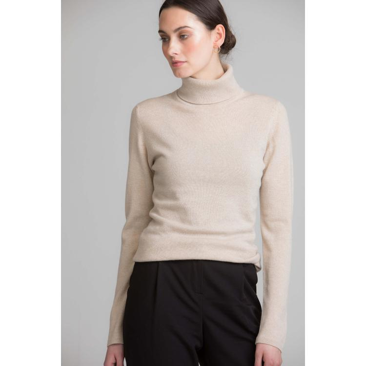 c972fd51e Johnstons Natural Classic Roll Neck Womens Cashmere Jumper in ...