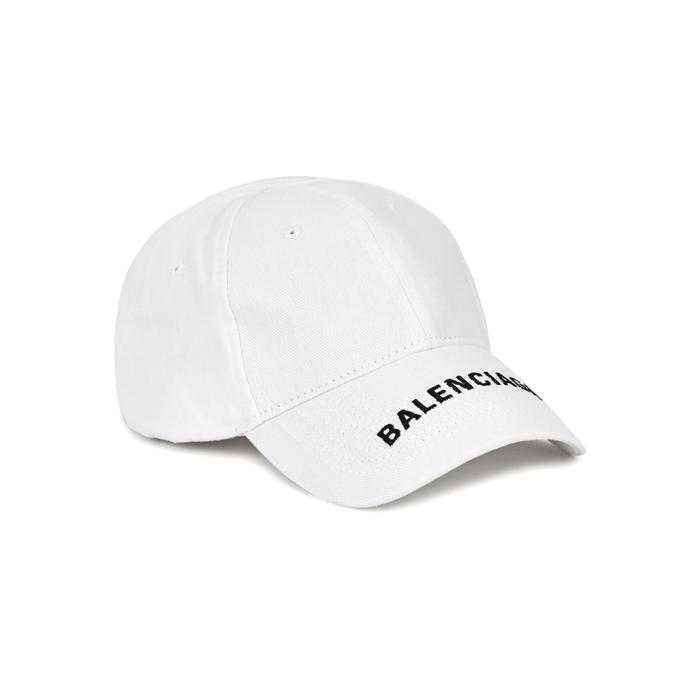 9ce118d1dce Balenciaga  everyday  Logo Embroidered Visor Baseball Cap in White ...