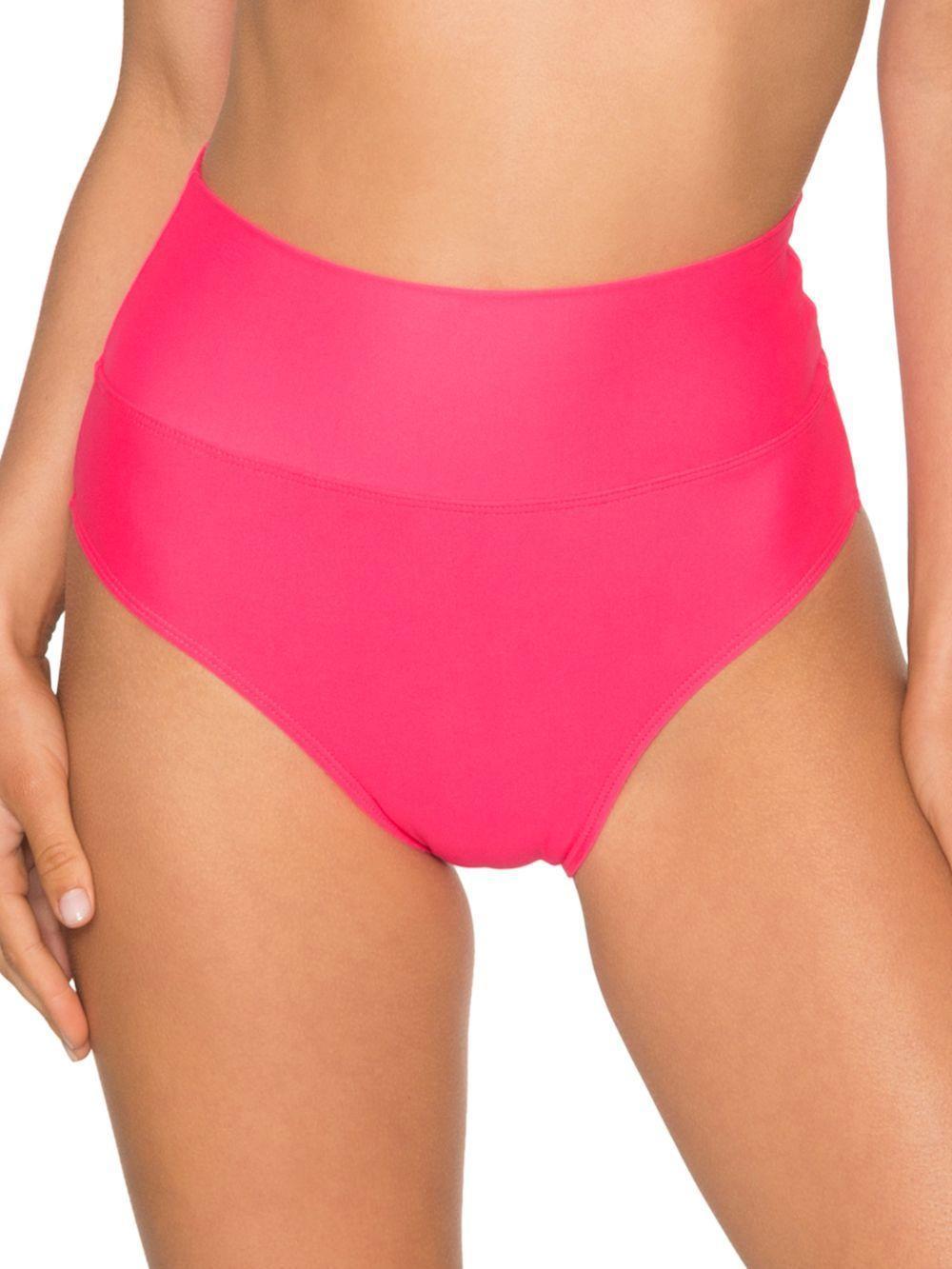 b89cb5a0d4b47 Sunsets Fold Over High Waisted Bikini Bottom in Pink - Lyst