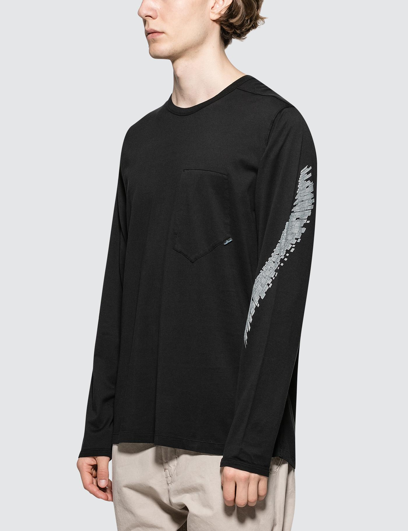 17b2e1c7 Lyst - Stone Island Shadow Project L/s T-shirt in Black for Men