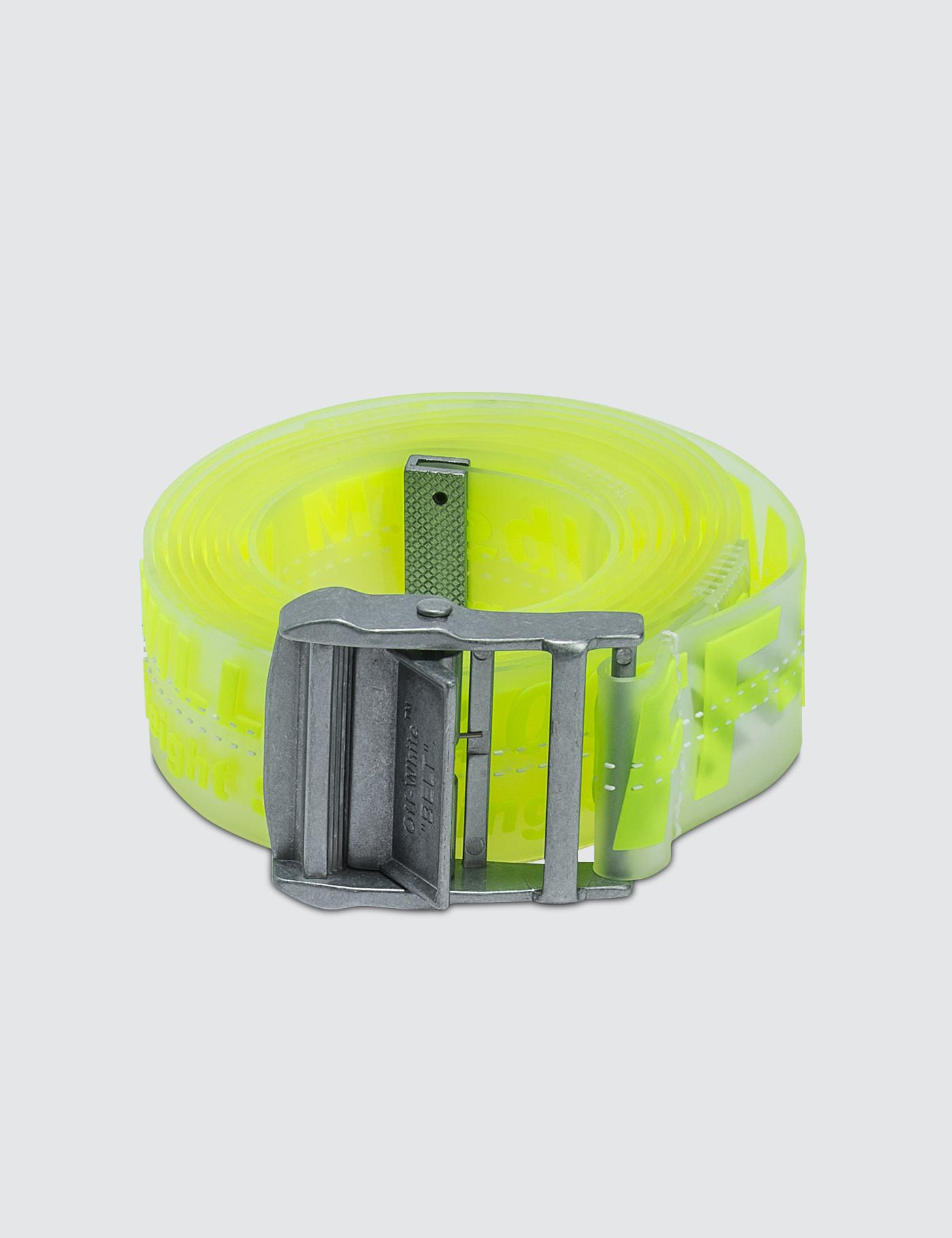 ddefc50fa283 Lyst - Off-White c o Virgil Abloh Rubber Industrial Belt in Yellow ...