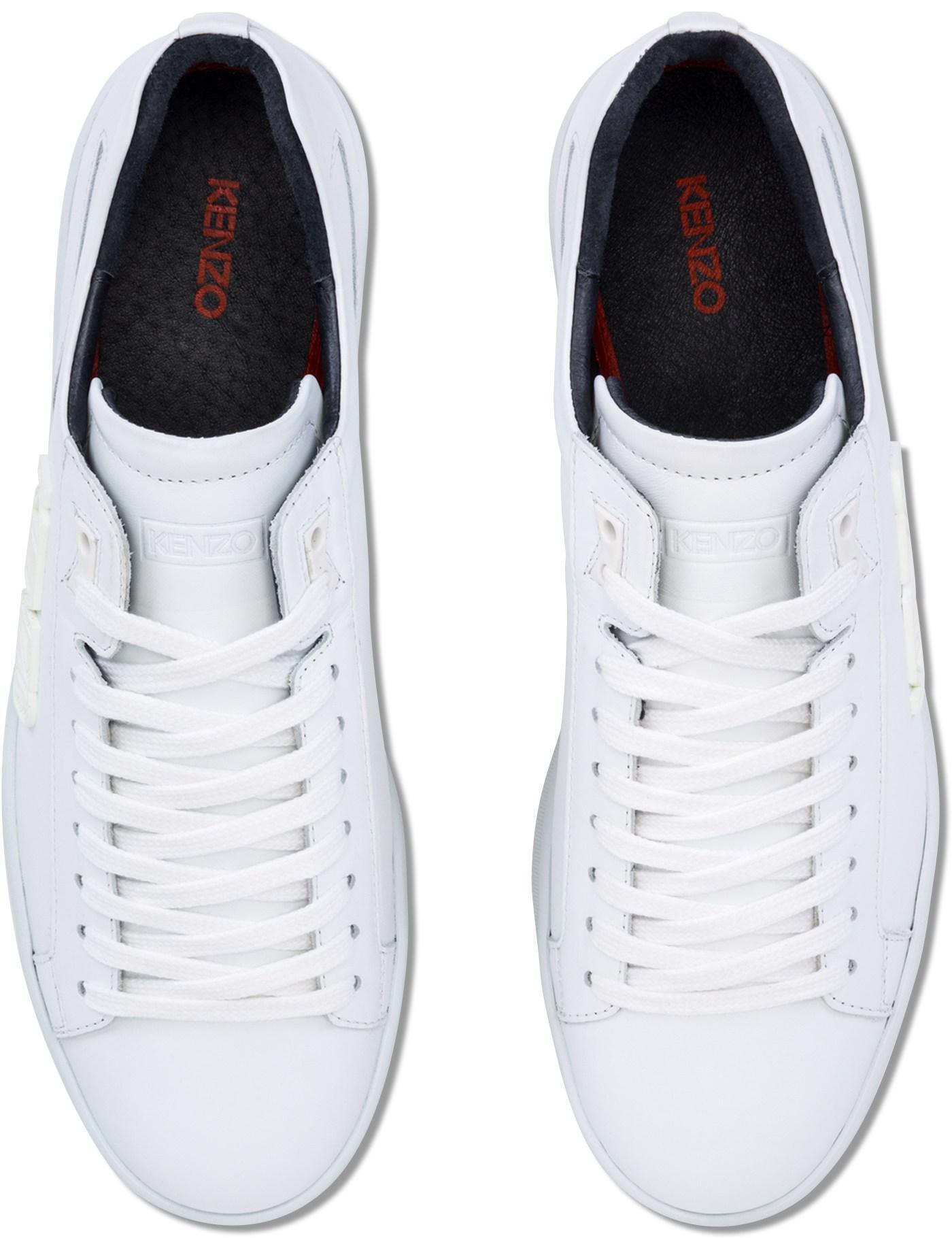 kenzo tennix sneakers in white for men lyst
