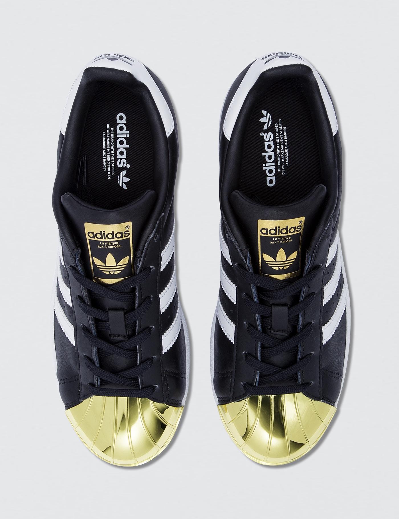 save off 6f7a6 a6839 Lyst - Adidas Originals Superstar Metal Toe W in Black