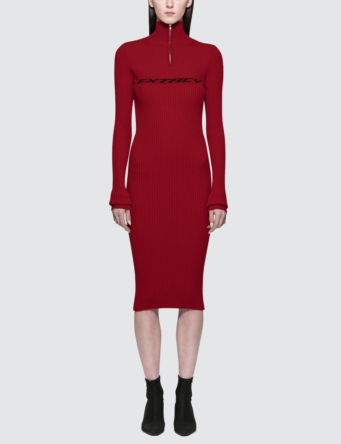 Lyst m i s b h v extacy half zip dress in red misbhv womens red extacy voltagebd Gallery