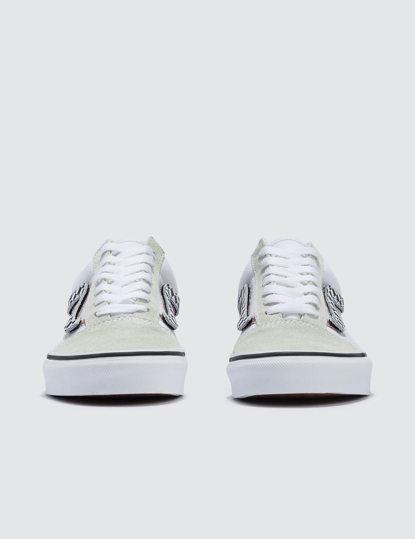 73f2ca5a98 Vans - White Sidestripe V Old Skool - Lyst. View fullscreen