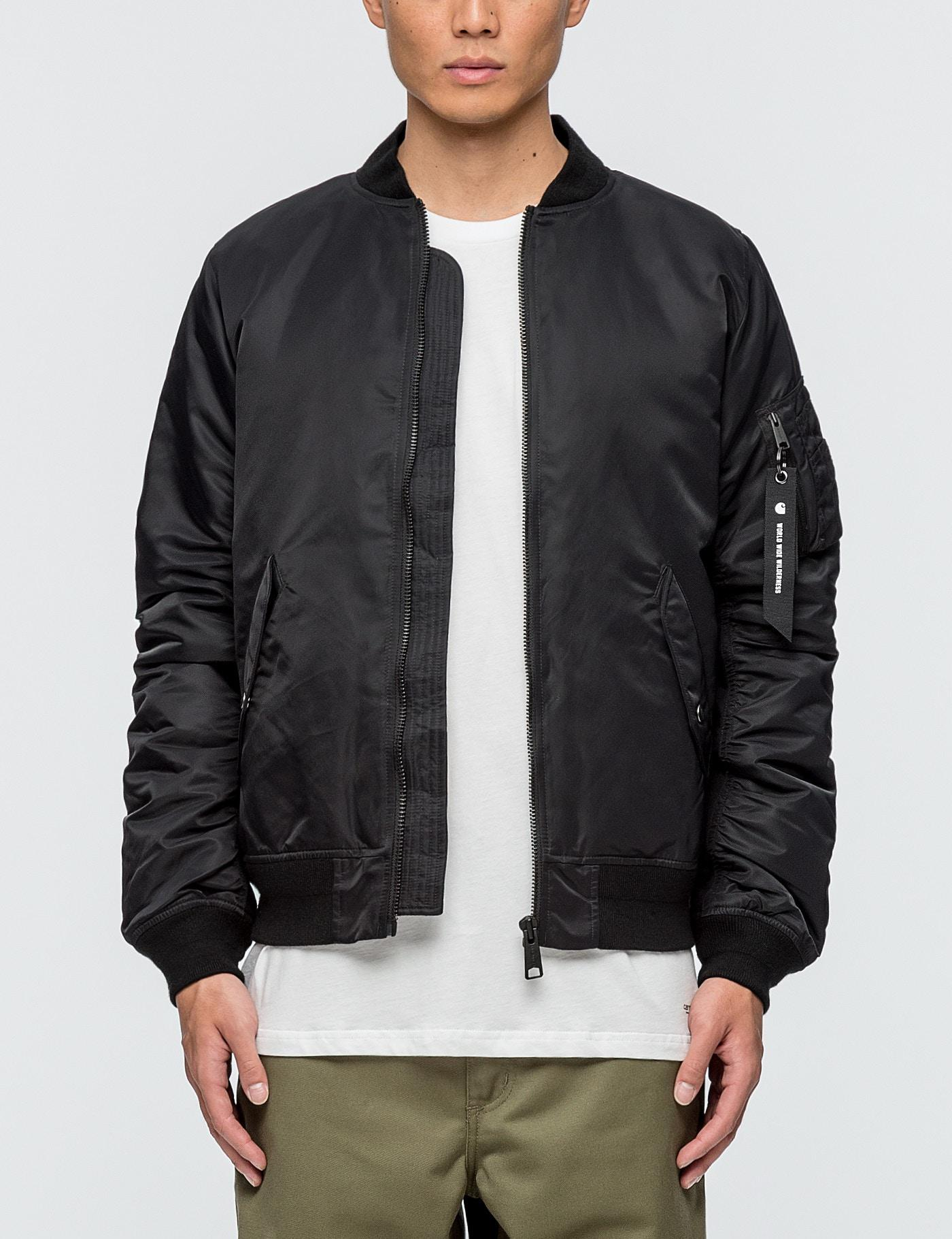 Lyst - Carhartt WIP Ashton Bomber Jacket in Black for Men 7f3a1d7bfd2