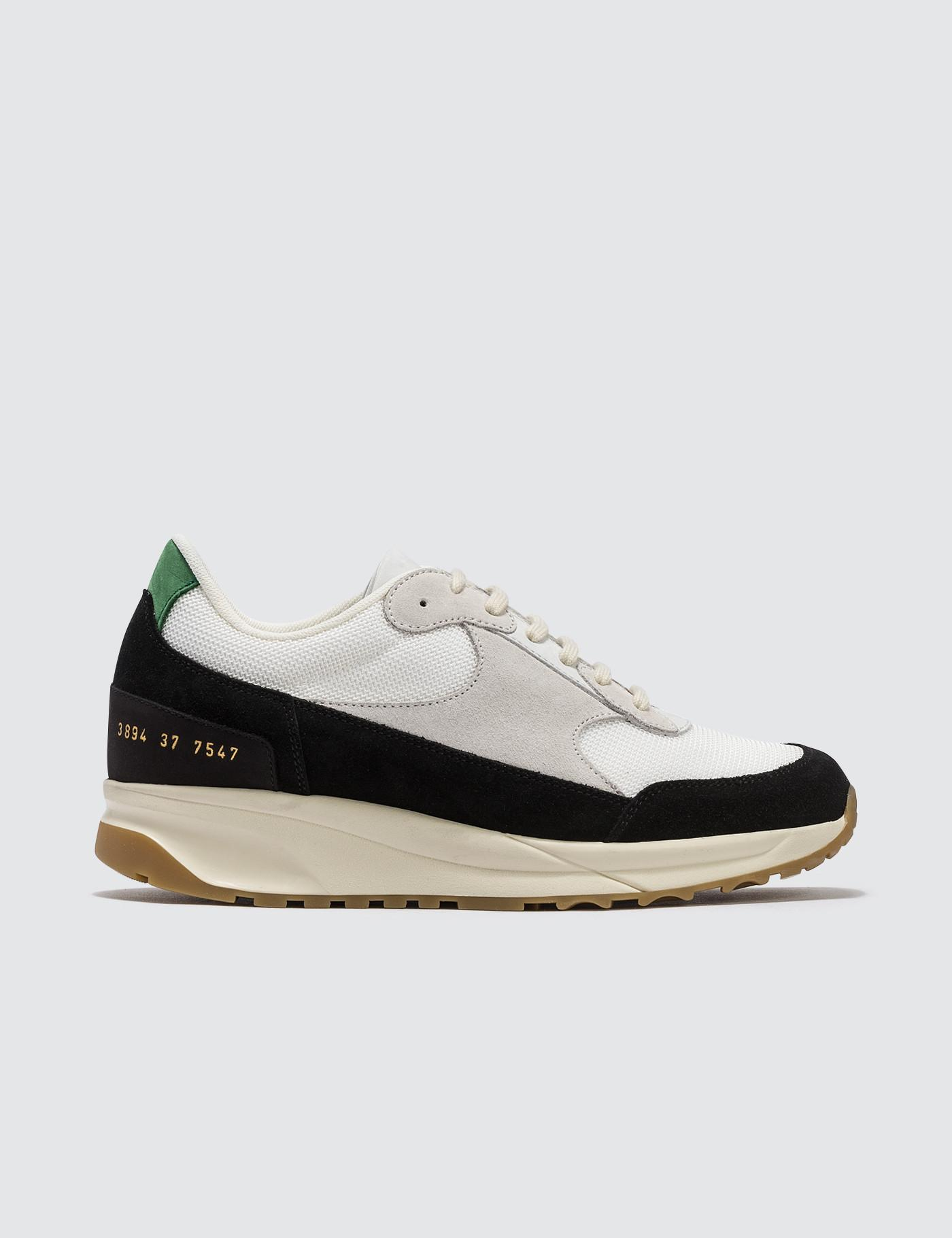 779035c78f45 Lyst - Common Projects New Track Suede-trimmed Sneakers in Black ...