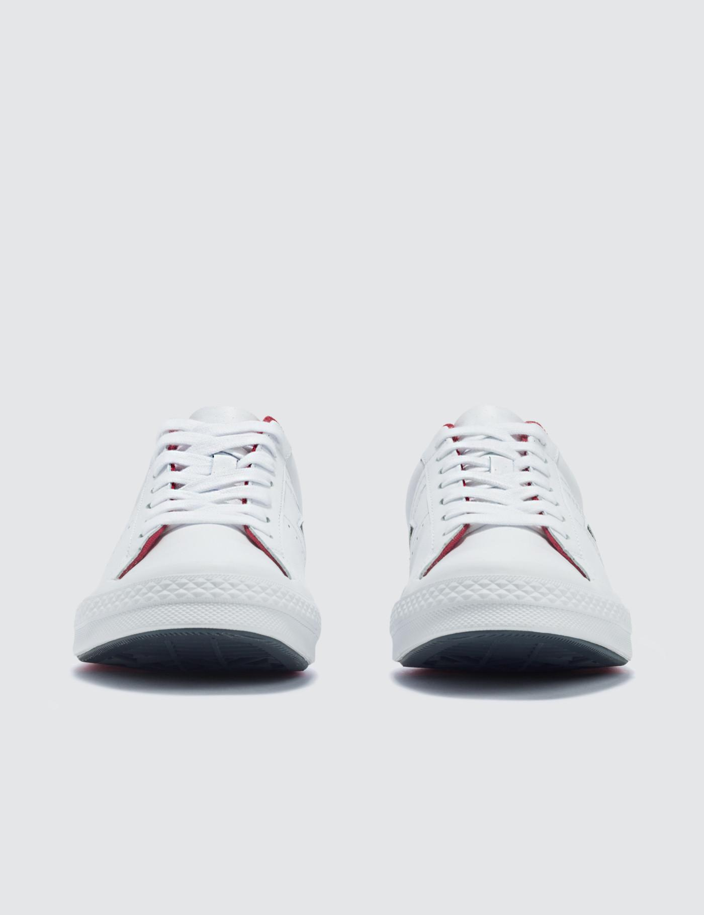 cb4a5ae79b5 Converse One Star in White for Men - Lyst