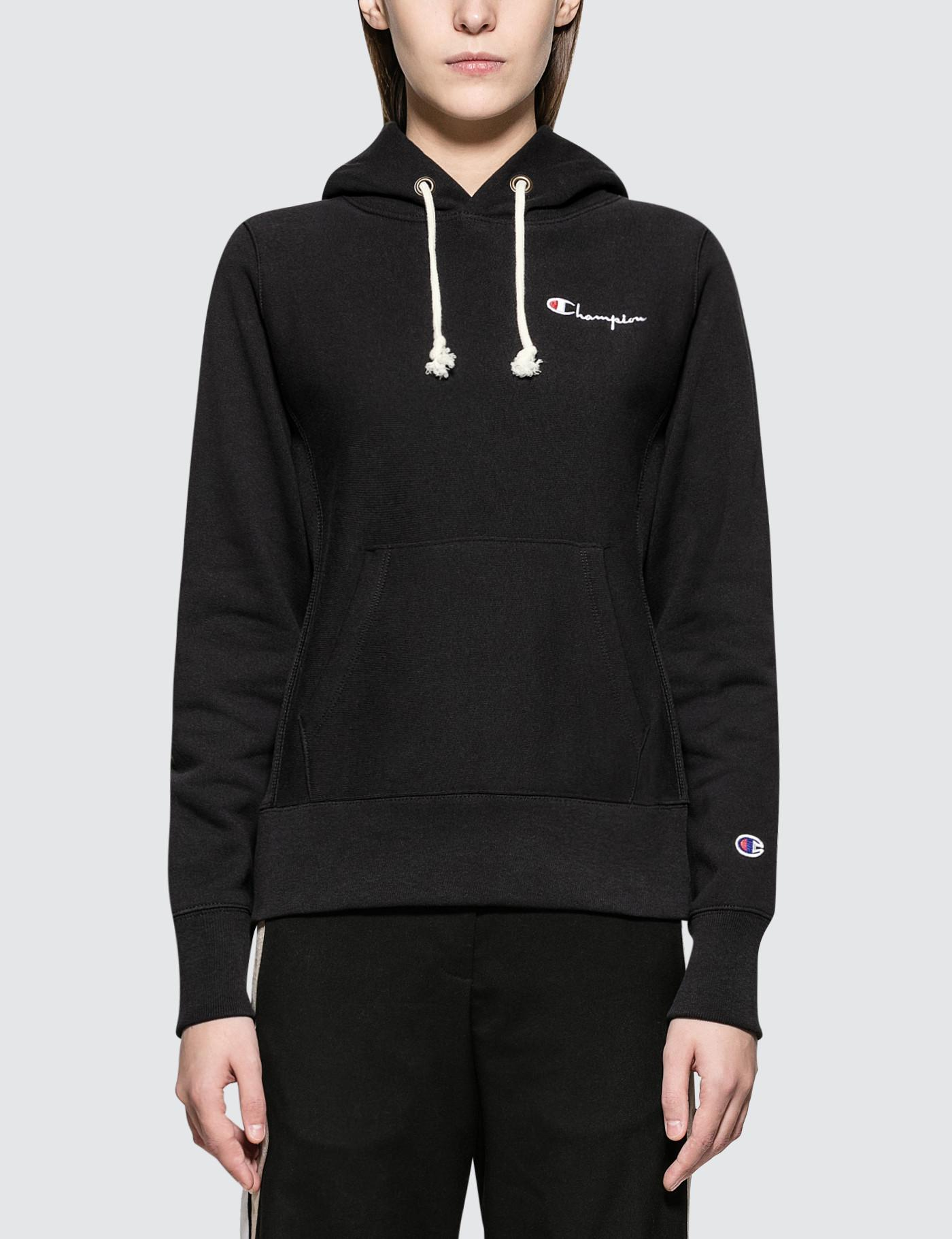 1e9f4a6a8d8 Champion Embroidered Logo Hoodie in Black - Save 13.888888888888886 ...