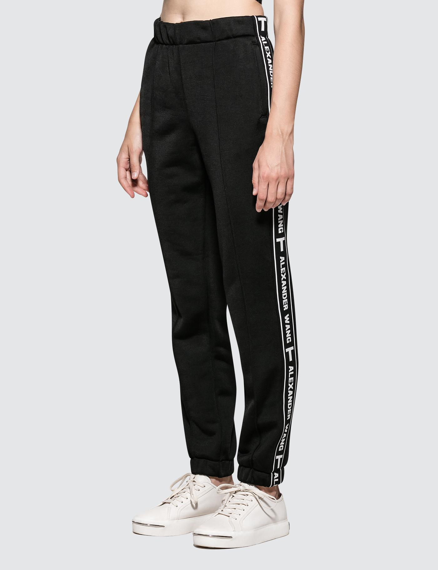 414d9e725da Alexander Wang Sleek French Terry Pull-on Track Pant With Logo Tape ...