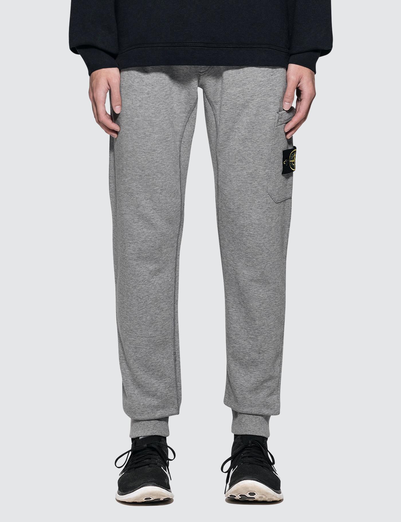 84df781e7889 Stone Island Fleece Trousers in Gray for Men - Lyst