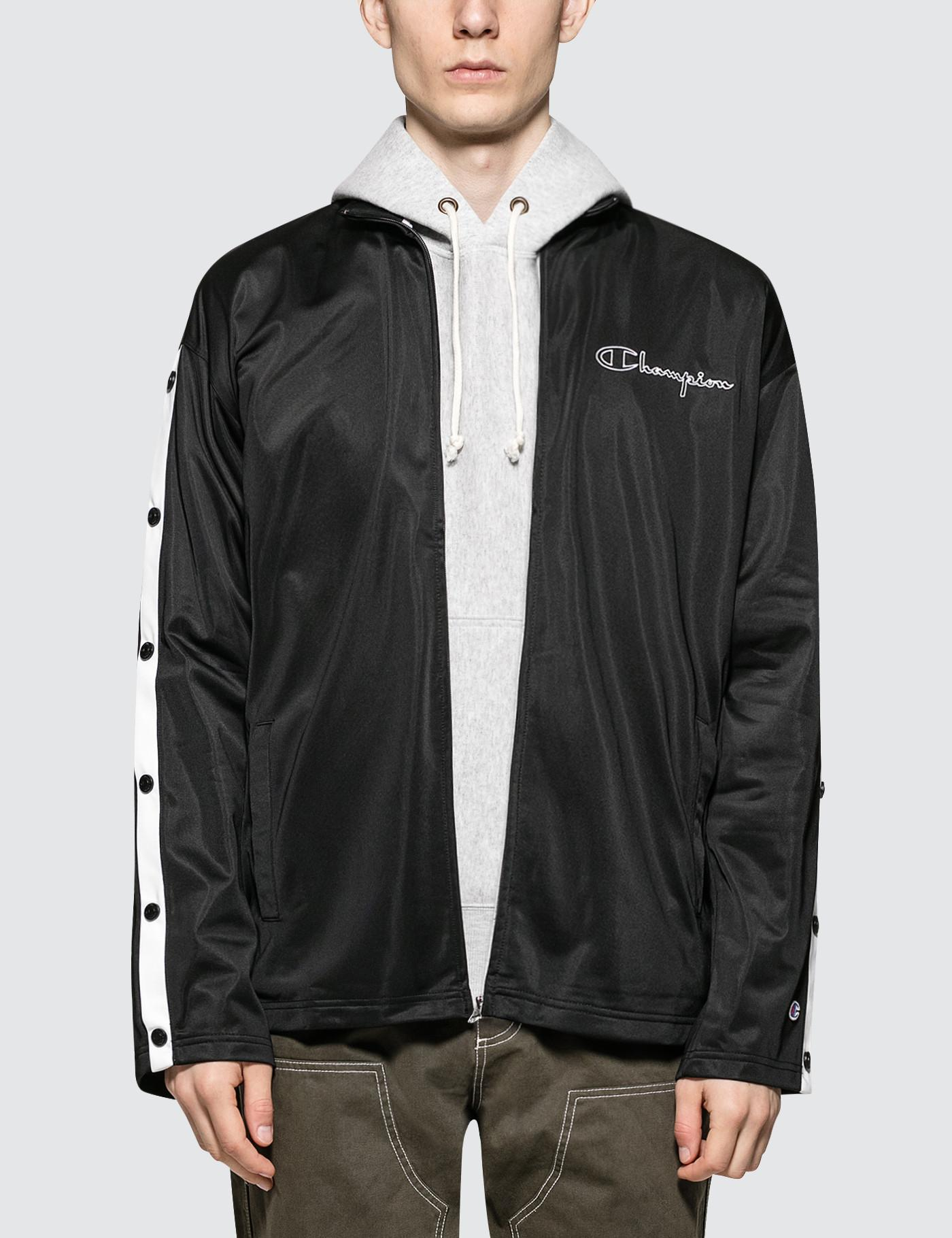 6fbfdb81b Lyst - Champion Track Jacket With Snap Details in Black for Men