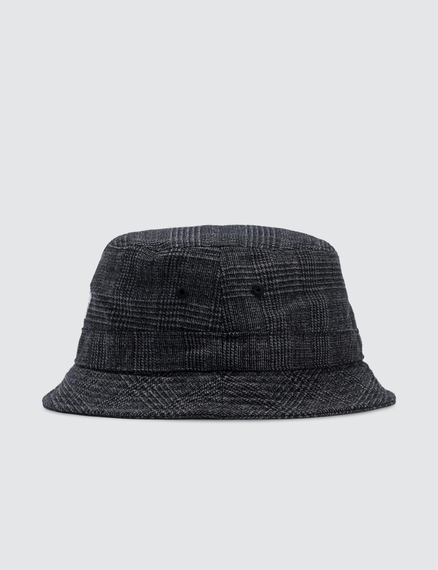 35d77e024d626 Stussy Glen Plaid Bucket Hat in Black - Lyst