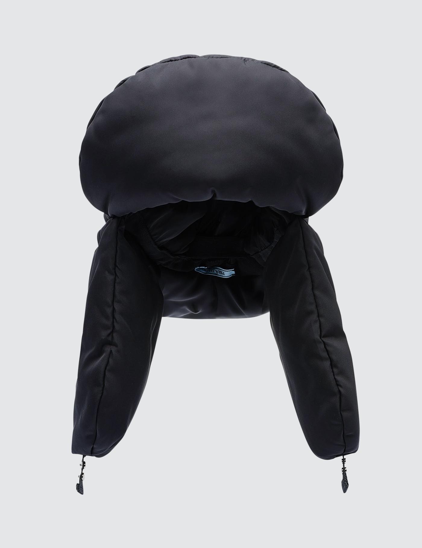 c401d22d302 Lyst - Prada Padded Nylon Gabardine Hat in Black for Men