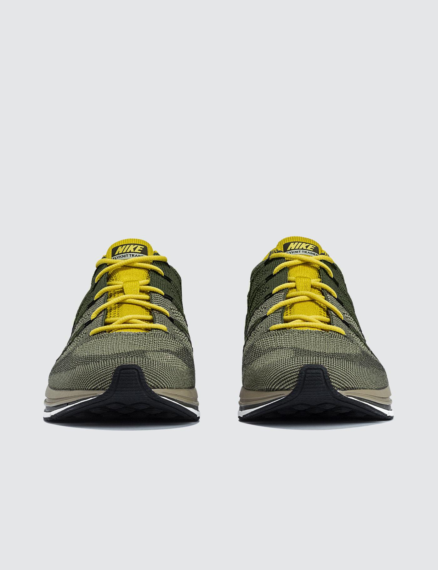 huge selection of eb3d2 a420e Lyst - Nike Flyknit Trainer in Green for Men