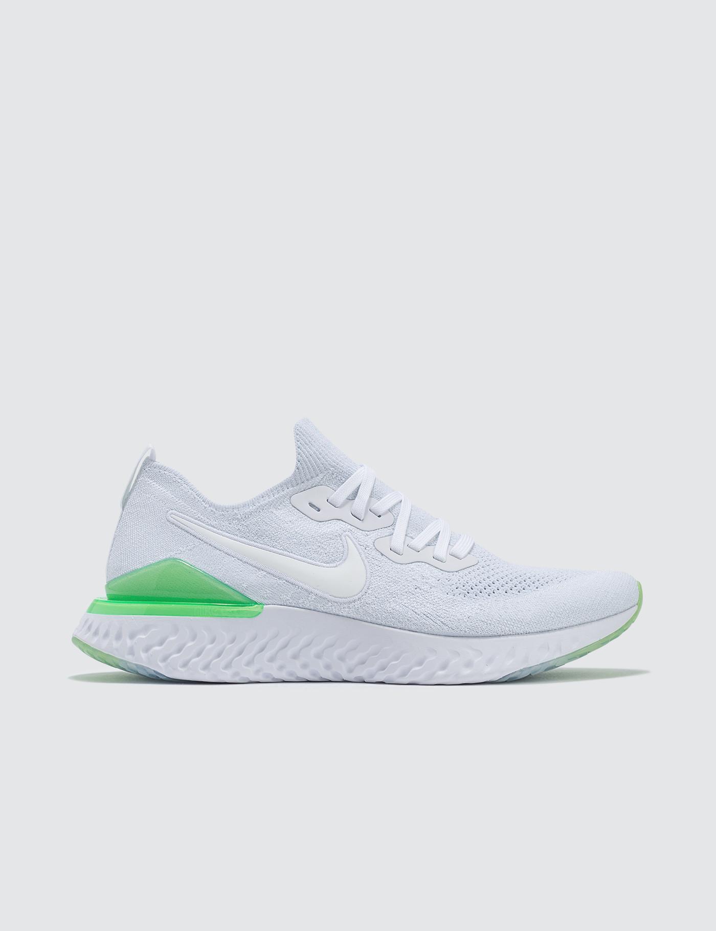 8d2f3d015936 Nike Epic React Flyknit 2 in White for Men - Lyst
