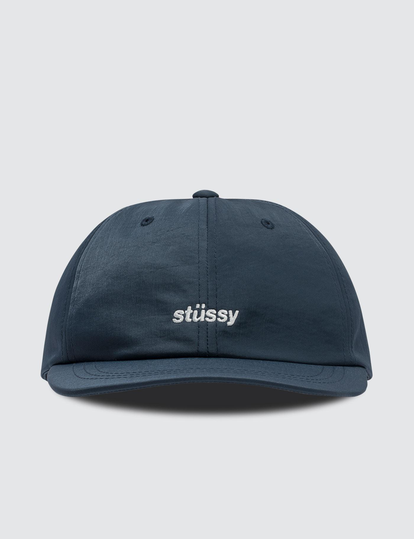 ab0ba207781 Stussy Helvetica Nylon Low Pro Cap in Blue for Men - Lyst