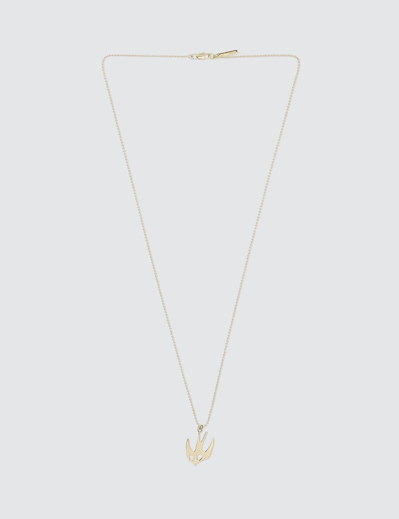 swallow necklace - Metallic Alexander McQueen y9BM25